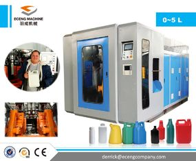 China Double Station Extrusion Blow Molding Machine , Plastic Drum Making Machine supplier