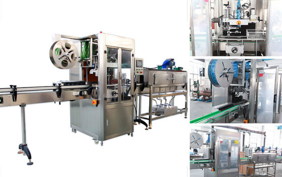 China Stainless Steel Water Bottle Labeling Machine For Square Or Round Bottles supplier