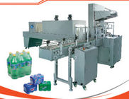 Pneumatic Pushing Bottle Packing Machine , Heat Shrink Packing Machine