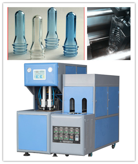 Pneumatic System Semi Auto Blowing Machine With Infrared Lamps Preform Heater