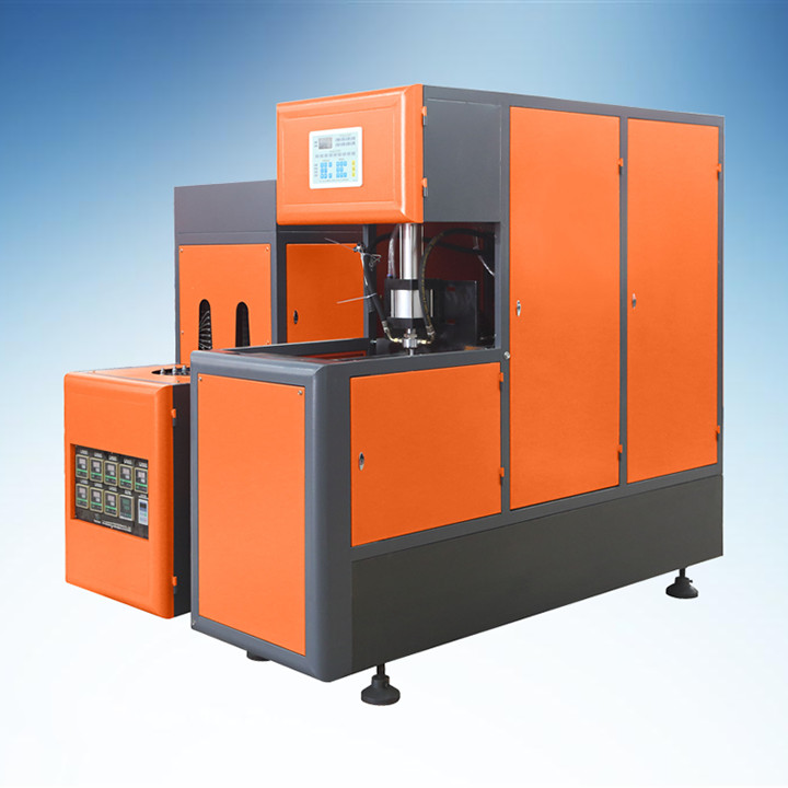 Orange Semi - Automatic PET Blow Moulding Machine For 5L Cooking Oil Bottle