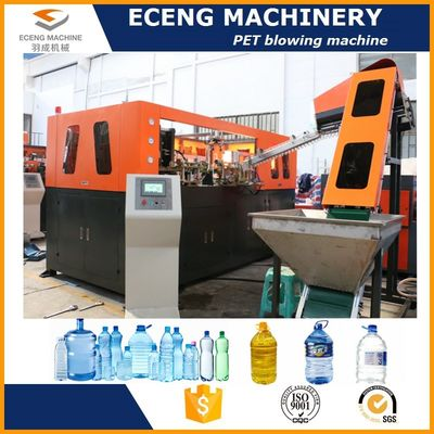 PLC Control Automatic Blowing Machine , 5L Bottle Maker Machine For Edible Oil