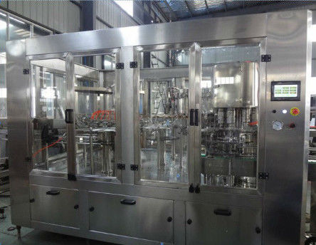 China Hot Water 3 In 1 Filling Machine With Hanging Type Conveying - Bottle Structure factory