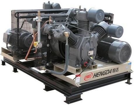Energy Saving 22KW Oil - Free Gas Powered Air Compressor With Solenoid Valve