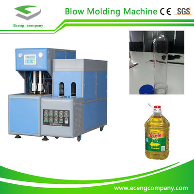 China 2 Cavity Semi Automatic Pet Blowing Machine For Medicine / Cosmetics Bottles factory